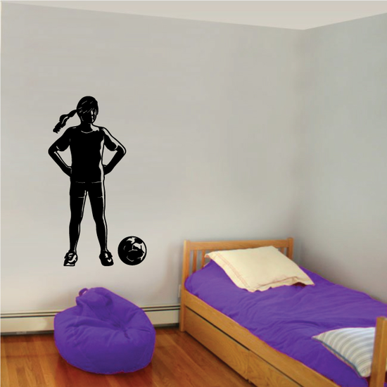 Soccer Wall Decal - Vinyl Decal - Car Decal - 163