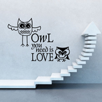 Owl You Need is Love Wall Decal