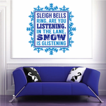 Sleigh Bells Rings Are You Listening Quote Printed Decal