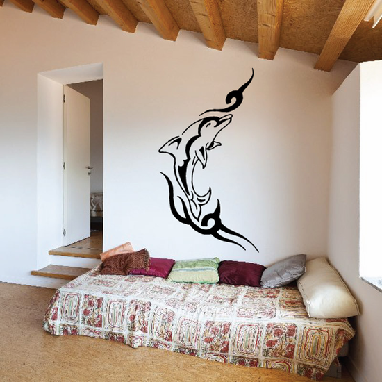 Tattoo Barbed Wire Dolphin Decal