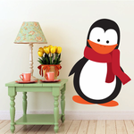 Penguin with Red Scarf Sticker