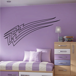 Racing Vehicle Pinstripe Vinyl Decal - Car Decal - Wall Decal - MC072