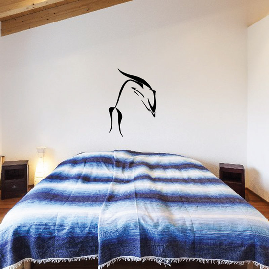 Elegant Diving Dolphin Decal