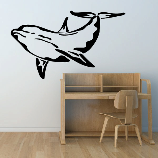 Water Dolphin Decal