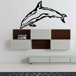 Wavy Dolphin Decal