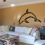Wavy Pattern Dolphin Decal