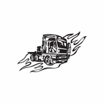 Semi Truck Wall Decal - Vinyl Decal - Car Decal - DC 071
