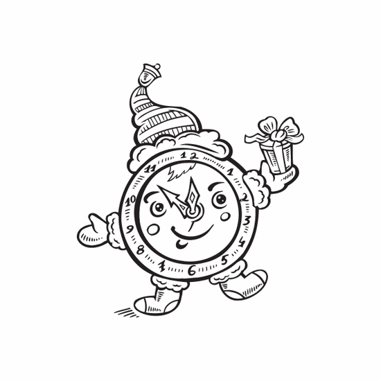 Christmas Clock Character Decal