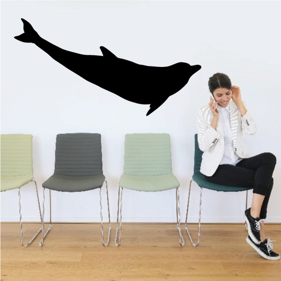 Delighted Dolphin Decal