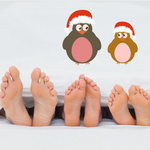 Christmas Penguins with Santa Hat Sticker