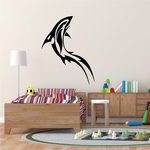 Tribal Dolphin Swimming Up Decal