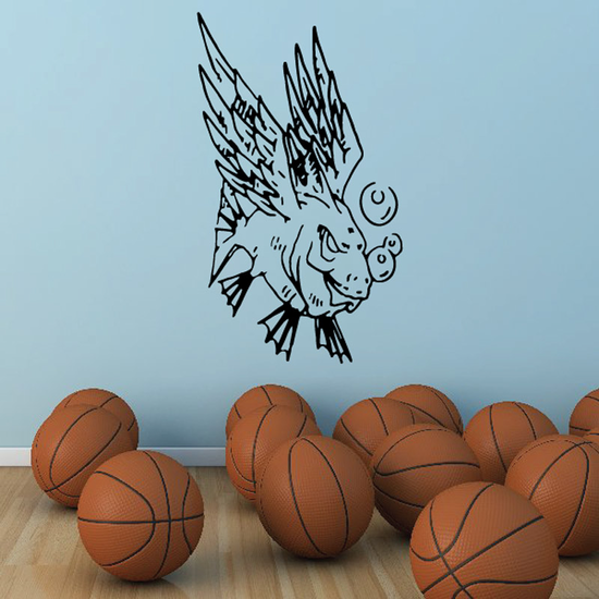 Winged Demon Fish Decal