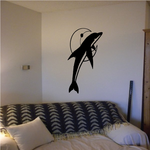 Dolphin and Crescent Moon Decal