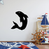 Flipping Over Dolphin Decal
