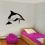 Turning Striped Dolphin Decal