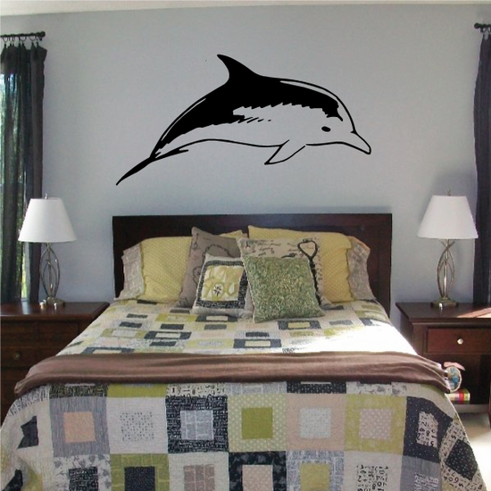Bottlenose Dolphin Casual Swim Decal