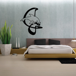 Dolphin and Letter Decal