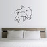 Cute Curious Dolphin Decal