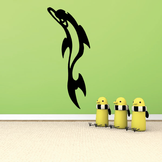 Samoan Tribal Leaping Dolphin Decal