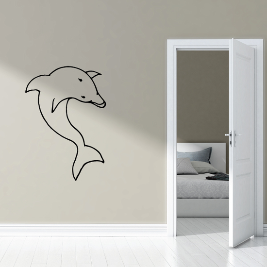 Looking Over Dolphin Decal