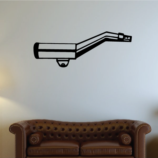 Simple Motorcycle Exhaust Decal