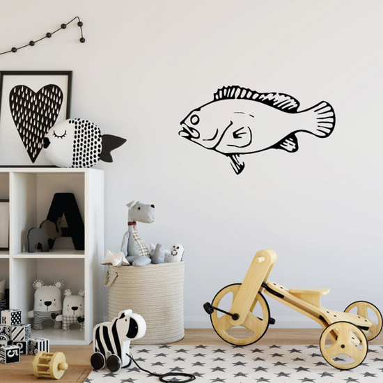 Looking Bass Fish Decal