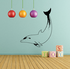 Serene Dolphin Diving Decal