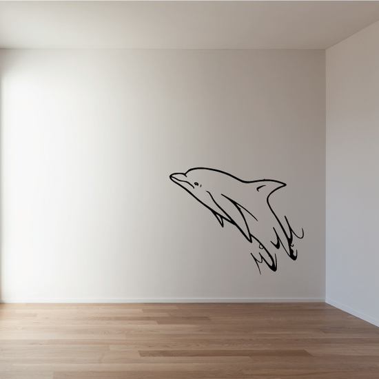 Dolphin Splashing out of Water Decal