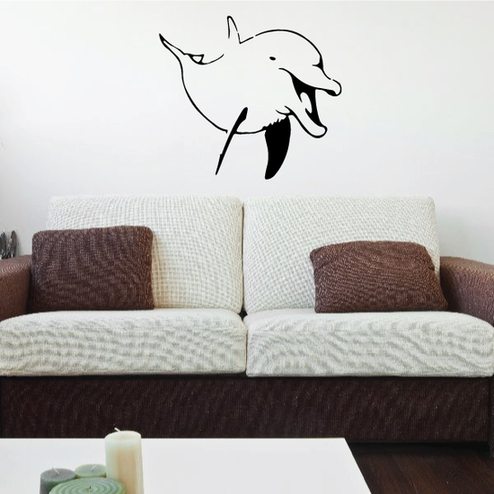Playful Happy Dolphin Decal