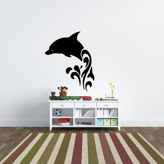 Spashing Water Dolphin Decal