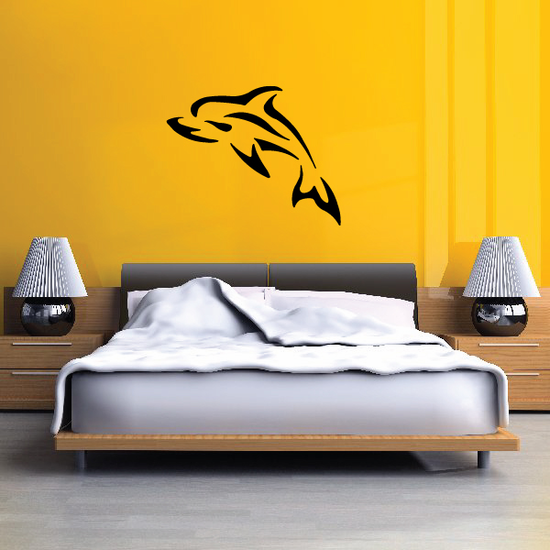 Tribal Compact Dolphin Decal