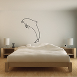 Swimming Away Dolphin Decal