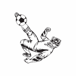 Detailed Soccer Wall Decal - Vinyl Decal - Car Decal - DC 040