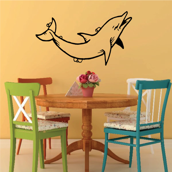Ocean Bubbles Dolphin Decal