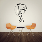 Dolphin and Moon Pose Decal