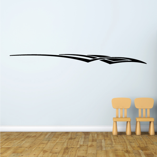 Racing Vehicle Pinstripe Vinyl Decal - Car Decal - Wall Decal - MC154