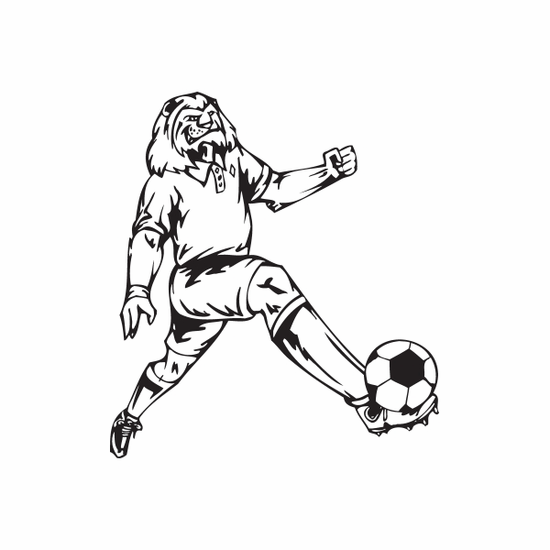 Detailed Soccer Wall Decal - Vinyl Decal - Car Decal - DC 051