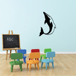 Dashing Dolphin Diving Up Decal