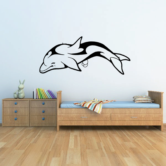 Striped Swerving Dolphin Decal