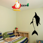 Dolphin Great Diving Over Decal