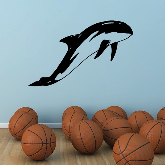 Graceful Orca Whale Swim Decal