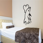 Dolphin Touching Heart Decal