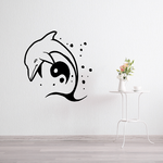 Peaceful Dolphin over Yin Yang Decal