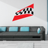 Checkered Flag Wall Decal - Vinyl Sticker - Car Sticker - Die Cut Sticker - SM001