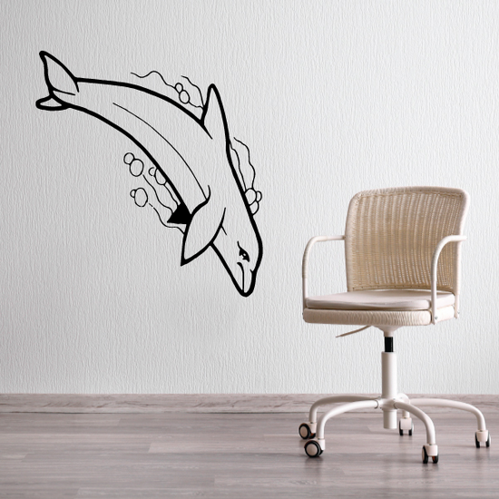 Dolphin Water Dive Decal