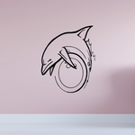 Diving Ring Dolphin Decal