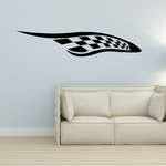 Checkered Flags Wall Decal - Vinyl Decal - Car Decal - SM003