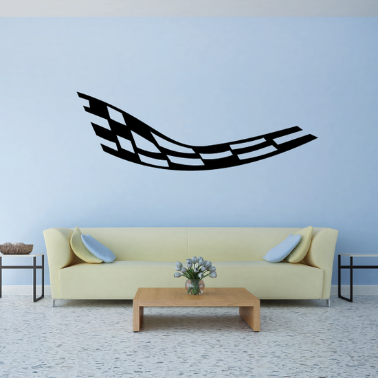 Checkered Flags Wall Decal - Vinyl Decal - Car Decal - SM006