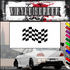 Checkered Flags Wall Decal - Vinyl Decal - Car Decal - SM010