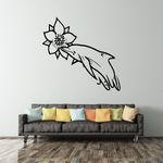 Dolphin and Flower Decal